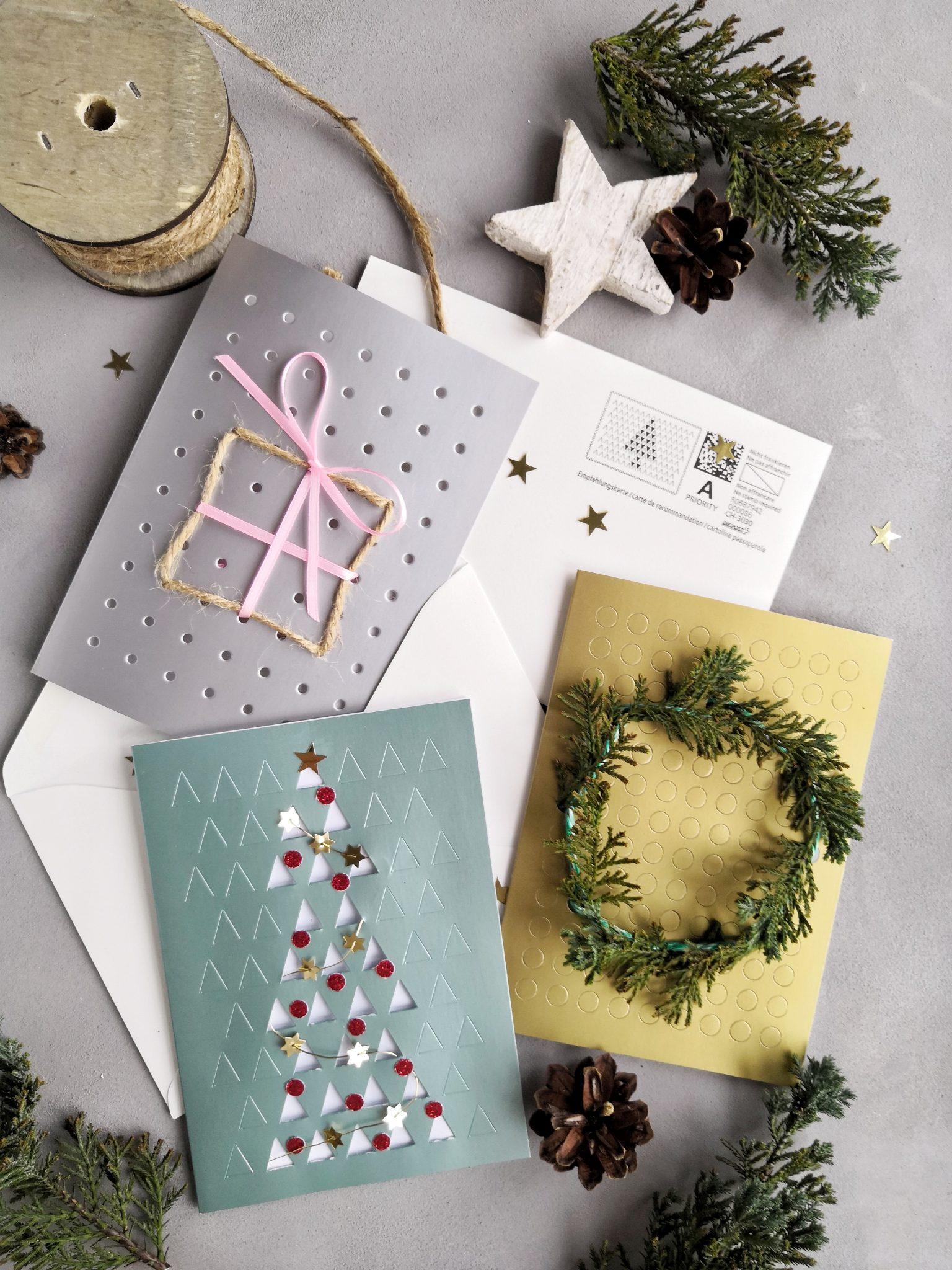 Individuelle Weihnachtskarten.Diy Weihnachtskarten Individuelle Post Für Deine Liebsten